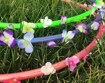 Fairy Circle - Silk Flower Hula Hoop - POLYPRO and HDPE Dance & Exercise Hula Hoop collapsible with push button
