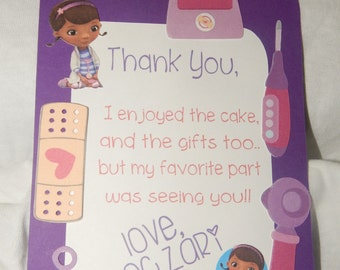 Doc Mcstuffins Inspired Thank You Cards