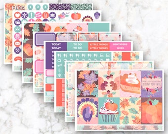 Thankful Weekly Planner Sticker Kit