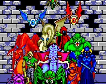 Phantasy Star Monsters Poster