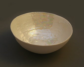 Present for Parents - Ceramic Large Bowl - House Warming Gift - Pottery Bowl - Pearl Wedding Gift - Wedding Anniversary Gift
