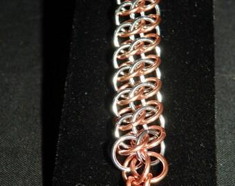 Silver and Copper GSG Bracelet