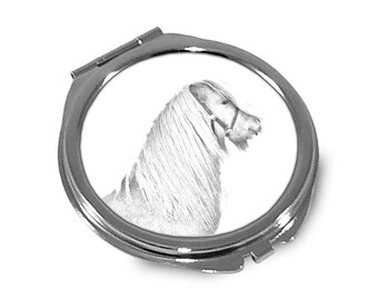 Shetland pony- Pocket mirror with the image of a horse.