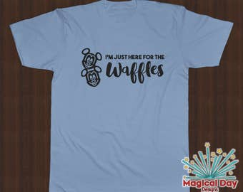 Disney Shirts - I'm just here for the Waffles (Black Design)