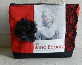 Cosmetic bag, Make Up bag, Marilin Monroe cosmetic bag