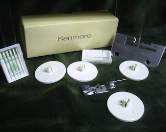 Sears Kenmore Sewing Machine Plate & Needles, Singer Serger Machine Parts, Vintage Kenmore, Serger/Sewing Tool, Sewing Accessory