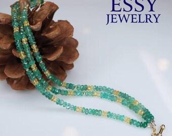 Essy Jewelry - Emerald Garden Thin Cut 3 Layers Bracelet, PeiPei Chang