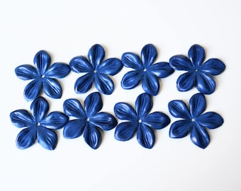 jasmine leather flowers set of 8 pcs