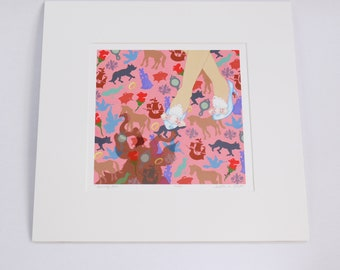 BEAUTY beauty & the beast limited edition signed and numbered archival art print matted from faerie tale feet series
