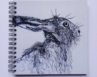 Hare Notebook - Hare Gift - White