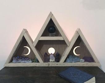 Triple goddess moon shelf
