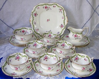 ANTIQUE Hand Painted AYNSLEY Tea Set Victorian