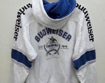 Vintage Budweiser big logo hoodie sweater sweatshirts