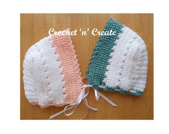 Criss Cross Bonnet Baby Crochet Pattern (DOWNLOAD) CNC17