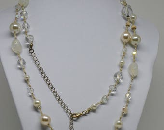 Charming Lucite Beaded Necklace