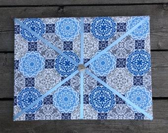 Floral Blue Fabric Board w/ Light Blue Ribbon (SC)