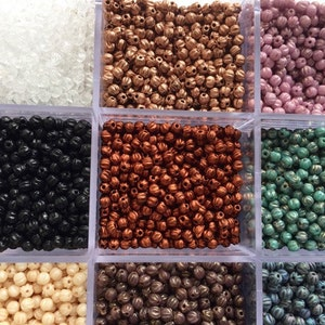 Jewellery Making Czech Pressed 3mm Round Corrugated Melon Beads - Crystal Colours choose your colour - x25 beads loose