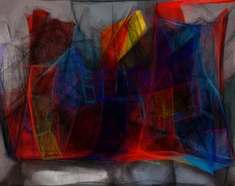 House of Chaos, Original Abstract Digital Painting