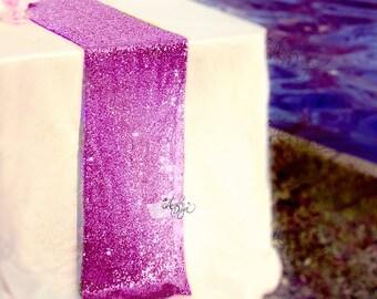 Lavender Sequin runner for 5ft table | Sparkly Light Purple Table linens for Wedding Cake table Events Bridal Shower decor