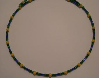 Green, blue and yellow necklace