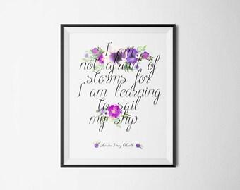Alcott Literary Print - Little Women Bookish Quote Poster