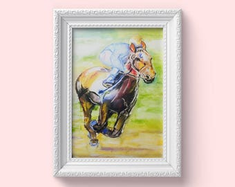 Racing Jockey Painting