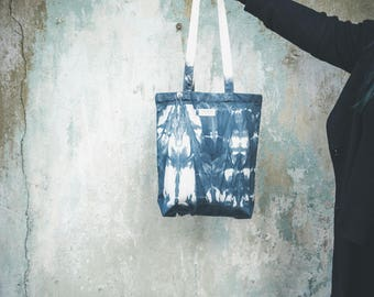 Riley // Tote bag // Handbag // Canvas // One of a kind // Ink