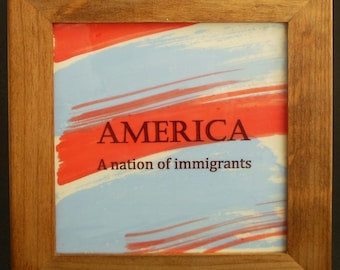 America : A Nation of Immigrants Framed Tile