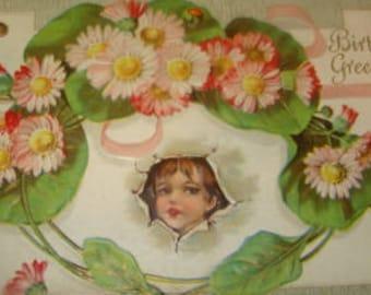 Cute Vintage Fantasy Postcard (Child)