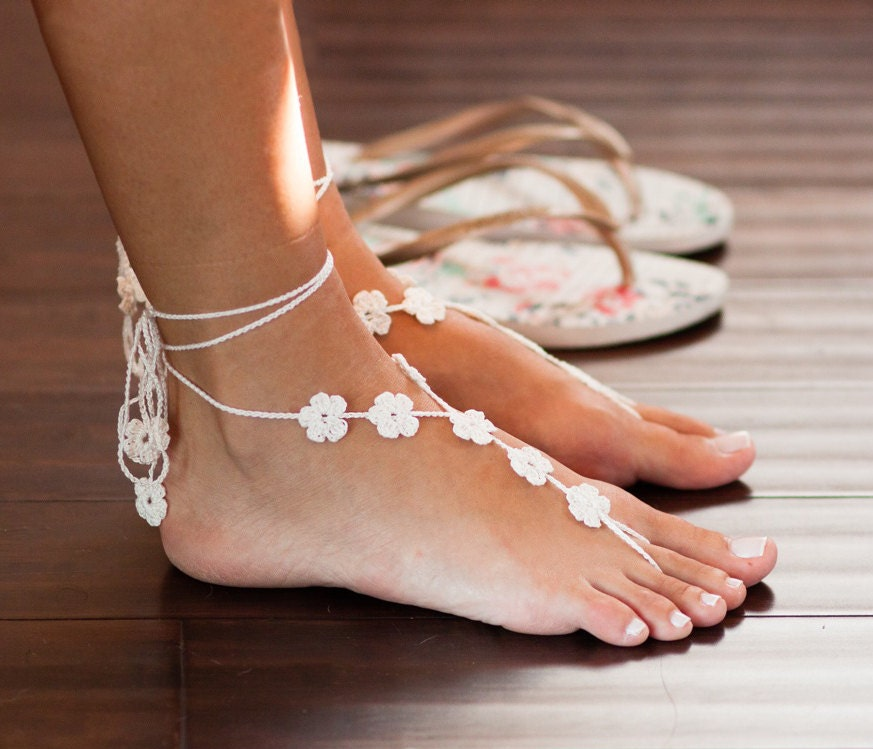 Bridesmaid Gifts Beach Wedding: Footless Sandals Beach Wedding Sandals Bridal Barefoot
