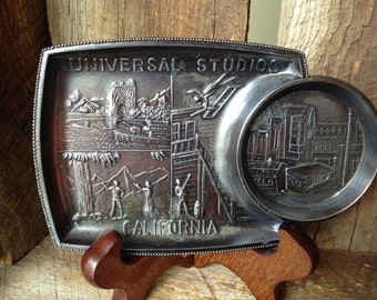 Vintage Universal Studios California Metal Tray