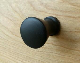 Designer Round Black Wood Cabinet Knob