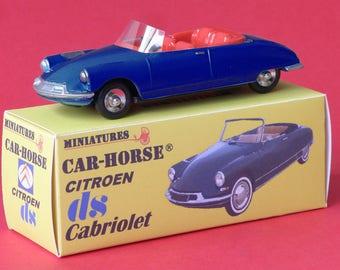Citroen DS 19 convertible dark blue rim Dinky car-Horse