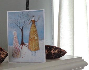 Six Seeds, ART BLOCK: 5x7x1.5 inch fine art print mounted on cradled panel. Ready to hang or stand, tomanek, everywomanart