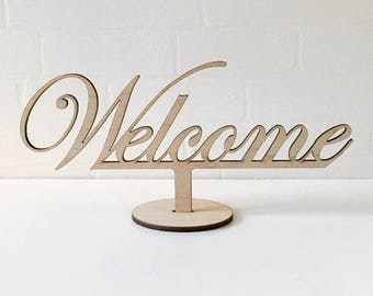 Welcome, Wedding Deco Signs, Wedding table Sign, Wedding Decorations