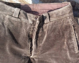 Vintage French Mont Saint Michel brand workwear chorewear trousers pants