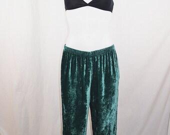 Vintage Green Velvet Pants