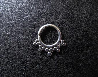 Silver Septum, Tribal plain Silver Septum, Ethnic tribal silver septum, Nose Ring