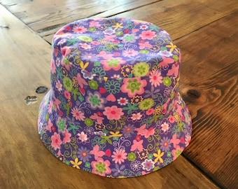Baby Girl Bucket Hat, Summer Hat, Baby Sun Hat, Baby Girl Shower Gift, Bucket Hat for Girls, Summer Hat, Cotton Hat