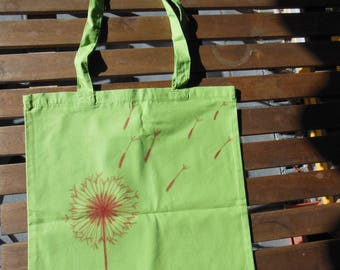 Fabric bag steam flower, day bag, shopping bag