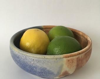 Brown/Blue Bowl // Handmade Ceramic Bowl // Handmade Pottery Bowl // Handmade Cereal Bowl // Ceramic Cereal Bowl // Blue Bowl