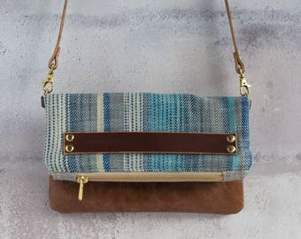 leather handbag, leather bag, leather purse, oversized clutch, brown leather bag, shoulder bag, crossbody handbag