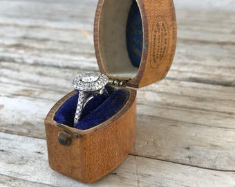 Antique Mauchline Ware Ring Box