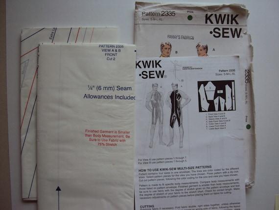 Vintage 90\'s men\'s wetsuit pattern Kwik Sew 2335