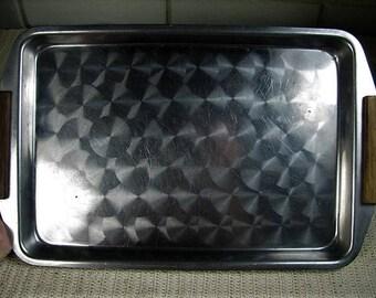 Art Deco machined chrome tray