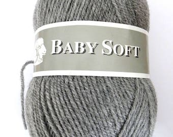 Soft Baby yarn grey 50 grams