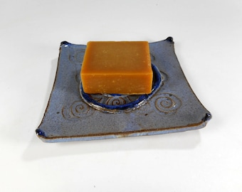 Ceramic soap dish, pottery soap holder, stoneware soap dish, ceramic sponge caddy, bathroom soap dish, pottery sponge caddy