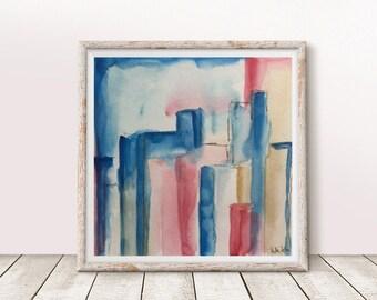 Original watercolor watercolor painting image art abstract painting abstract Watercolor art