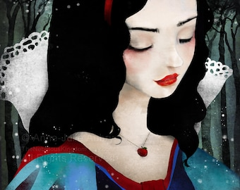 Snow White - Deluxe Edition Print - Whimsical Art