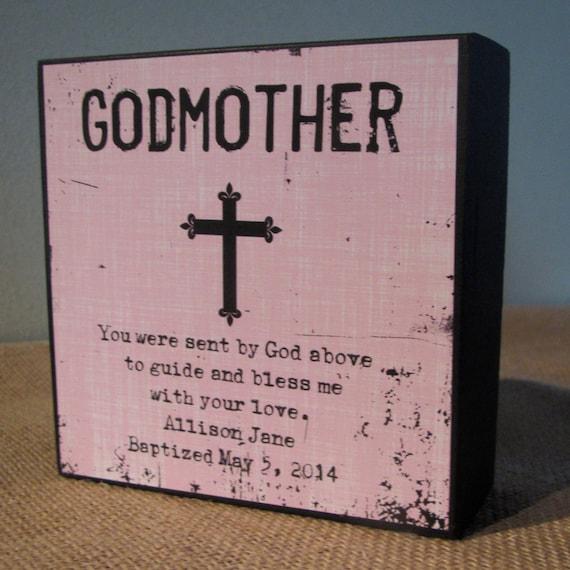 Godmother Wedding Gift: Personalized Godmother Gift Godmother God Mother Gift Sign
